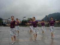 紫蝶踏歌廣場舞 啞巴新娘 表演 原創附正背面教學口令分解動作演示