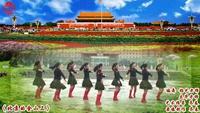 滕州广场舞协会乔春广场舞 北京的金山上 表演 完整版演示及口令分解动作教学