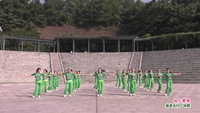 重庆文曲广场花儿茉莉舞队舞蹈   向上攀爬 表演 团队版 口令分解动作教学