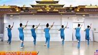 劉榮廣場舞《雪蓮花》原創附教學和背面演示正背面演示及口令分解動作教學和背面演