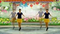 阳光美梅原创广场舞《兄妹情深》水兵舞风格32步正背面演示及口令分解动作教学和背面演