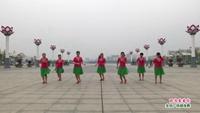 南昌縣姐妹花舞蹈隊廣場舞 因為愛著你 表演 團隊版 口令分解動作教學演示