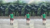 黃大姐廣場舞   雷山我的愛16步步子舞正背面演示及慢速口令教學