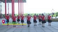 武汉沌口姐妹花舞蹈队广场舞 红红的日子 表演 团队版 附正背表演口令分解动作分解教学