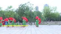 河北省邯郸市开心姐妹舞蹈队广场舞 火火的中国 表演 团队版 正背面演示及口令分解动作教学和背面演