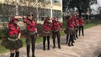 南京海燕水兵舞团即兴表演水兵舞第二套口令分解动作教学演示