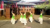 如梦广场舞五人版再唱洪湖水正背面演示及口令分解动作教学和背面演