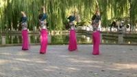 濟南洪樓廣場舞《自由行走的花》附正背面口令分解教學演示