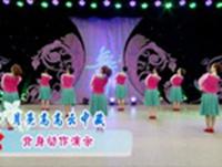 周思萍廣場舞  月亮高高云中藏 背面展示 正背面演示及口令分解動作教學