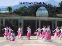 茉莉广场舞12人变队形《又见江南雨》原创古典附教完整版演示及分解教学演示