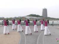 西安俏玲珑广场舞 好一朵女人花 背面展示