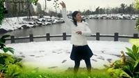 百荷花p4022447广场舞《哦想》编舞:春英正背面演示及口令分解动作教学和背面演