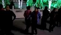 定园夜游西市快乐水兵舞队  公园夜游6正背面口令分解动作教学演示