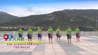 連云港賀月秋明星隊廣場舞 大風歌 表演 完整版演示及口令分解動作教學
