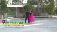 北京市石景山区鲁谷金凤舞蹈队舞蹈 杨树平 吴玉华 唱着情歌流着泪(平四) 表演 双人版