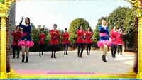 爱跳动的鱼广场舞《美人窝》团队版正背面演示及口令分解动作教学