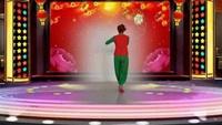 古桥舞动青春广场舞【拜新年】编舞杨杨舞曲黄峰完整版演示及分解教学演示