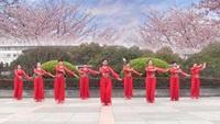 茉莉广场舞《爱到尽头也无悔》原创古典舞优美附教学正背面口令分解动作教学演示