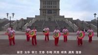 五云云花姐妹广场舞队《红尘蝶恋》(室外版)正背面口令分解动作教学演示