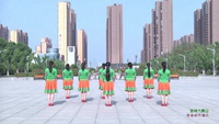 蒙城绿茶飞舞舞蹈 吉祥六鼎山 背面展示 正背面演示及慢速口令教学