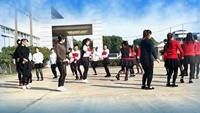 敏芳廣場舞[兔子舞]編舞麗萍老師演示團隊正背面口令分解動作教學演示