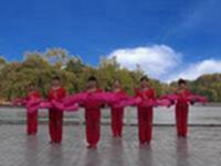新安广场舞 拜新年 表演 附正背表演口令分解动作分解教学