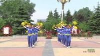 新乡市长垣县方里镇魅力舞蹈队广场舞 自由自在 表演 团队版 口令分解动作教学