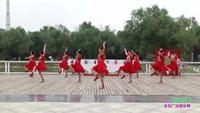 郑州市高新区金玫瑰艺术团2队广场舞 向往拉萨 表演 团队版 口令分解动作教学