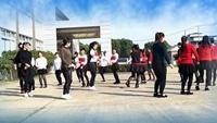 英英快樂每一天《兔子舞》編舞麗萍老師演示團隊附正背表演口令分解動作分解教學