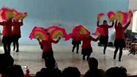 田二河西正街舞蹈队扇子舞【欢聚一堂】原创附教学口令分解动作演示