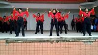 荷塘大利广场舞《映山红》正背面演示及口令分解动作教学和背面演