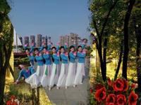 江西玲珑飞雨广场舞 好一朵女人花 背面展示