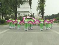 下村活力健身队广场舞 祖国颂 表演 团队版 口令分解动作教学演示