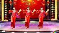 妙舞广场舞《拜新年》原创附教学附正背表演口令分解动作分解教学
