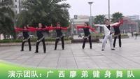 廣西廖弟健身廣場舞 新年財運到 正背表演 原創附正背面教學口令分解動作演示