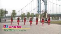 武漢云鶴舞蹈四隊廣場舞  因為愛著你 表演 團隊版 正背面演示及口令分解動作教學和背面演