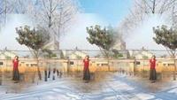 靜蓮廣場舞《冰雪天堂》附正背面口令分解教學演示