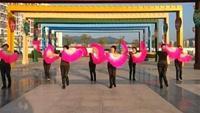 赣州石城女人花舞队《山里人乐的好潇洒》原创附正背面教学口令分解动作演示