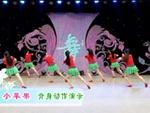 王梅廣場舞 小蘋果 背面展示 原創附正背面教學口令分解動作演示
