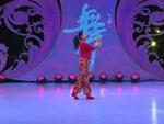 贺月秋广场舞 山里人乐的好潇洒 背面展示 正背面口令分解动作教学演示