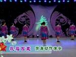 小丽子明广场舞  祝福西藏 背面展示 正背面演示及口令分解动作教学和背面演