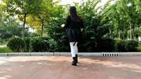 欣子廣場舞原創《對不起現在我才愛上你》自由舞步正背面演示及口令分解動作教學和背面演
