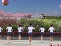 茉莉广场舞《中岳嵩山》原创现代舞 歌手六水附正背表演口令分解动作分解教学