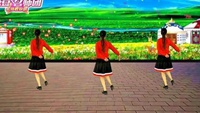 漓江飛舞廣場舞《愛在草原》原創16步入門舞附教學正背面口令分解動作教學演示