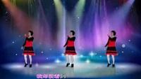 龙川红红舞蹈《唱着情歌流着泪》正背面演示及口令分解动作教学