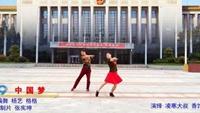 中国男子凌寒广场舞  中国梦 双人版正背面演示及口令分解动作教学