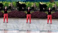 重庆尚阳姐妹广场舞山里人乐的好潇洒经典正背面演示及口令分解动作教学
