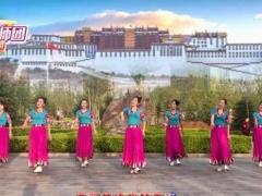 林州芳心广场舞《祝福西藏》原创藏族舞附教学经典正背面演示及口令分解动作教学