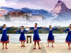 江西万安滨江广场舞队《藏族情歌》原创藏舞正背面附原创附正背面教学口令分解动作演示