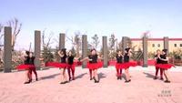 盘锦市自由自在舞蹈俱乐部 甩葱歌 表演 团队版附正背面口令分解教学演示